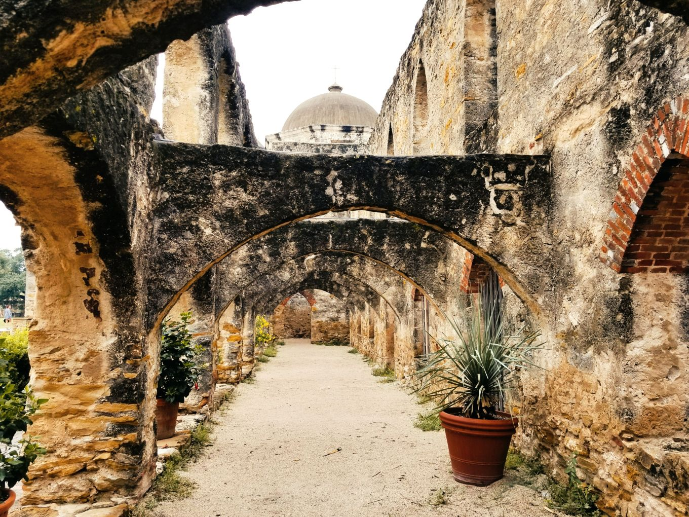 Archways of Mission San Jose in San Antonio