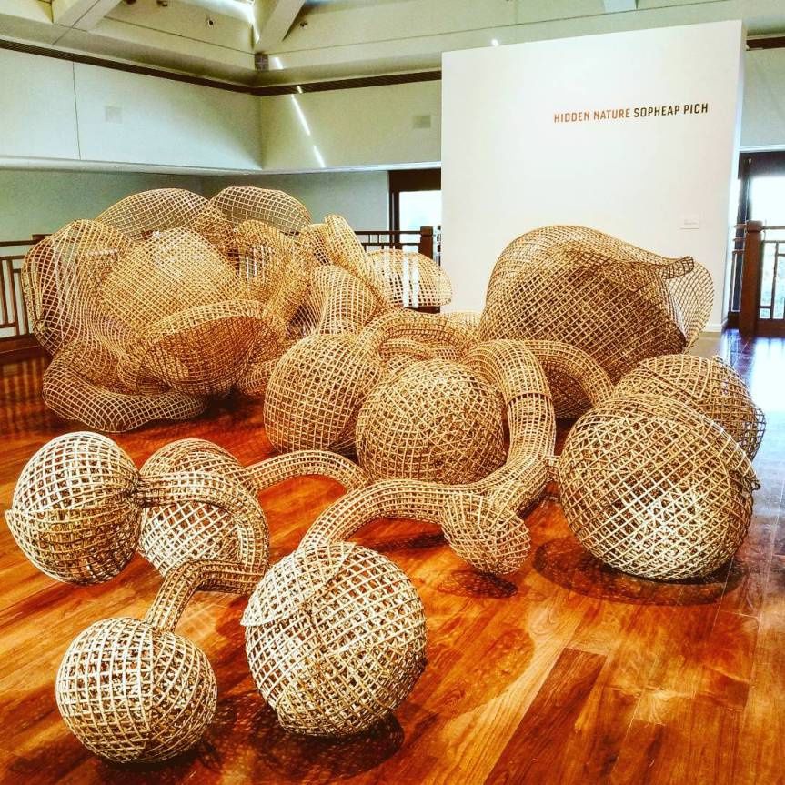 """Rang Phnom Flower"", Sopheap Pich, 2015 at the Crow Collection for Asian Antiquities"