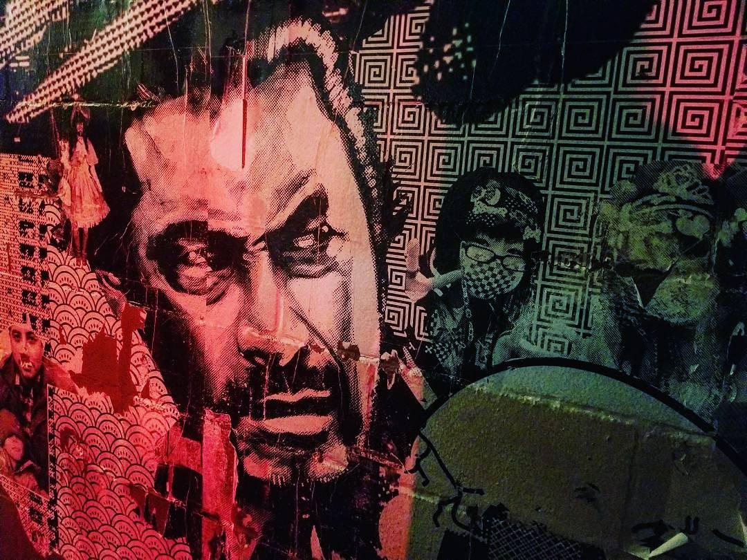 Graphic mural outside Ramen Tatsu-Yu in Austin, Texas