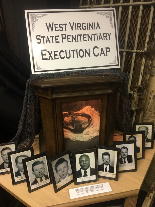 The Electric Chair Execution Cap from the West Virginia State Penitentiary and its victims