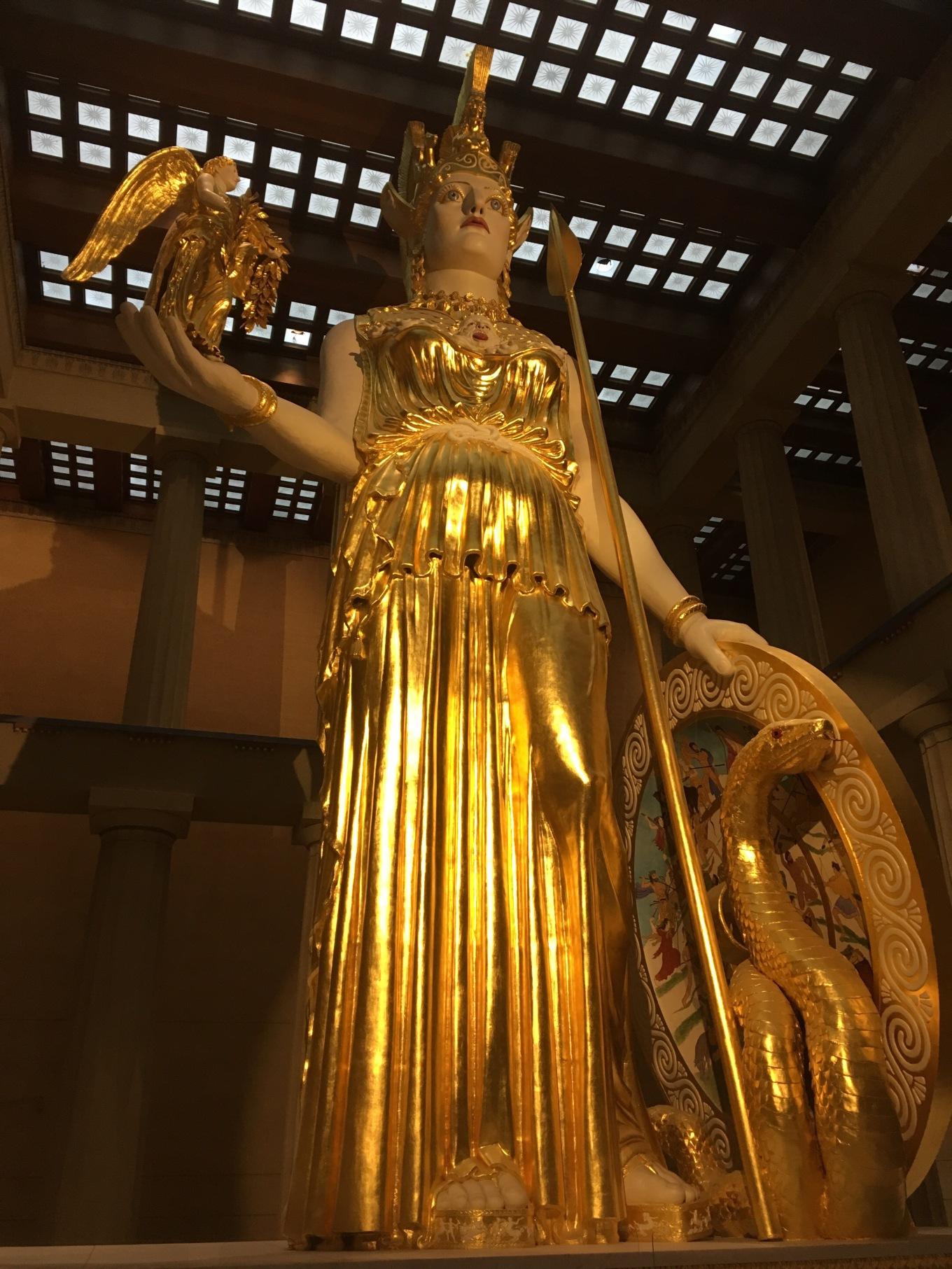 Statue of Athena at the Nashville Parthenon