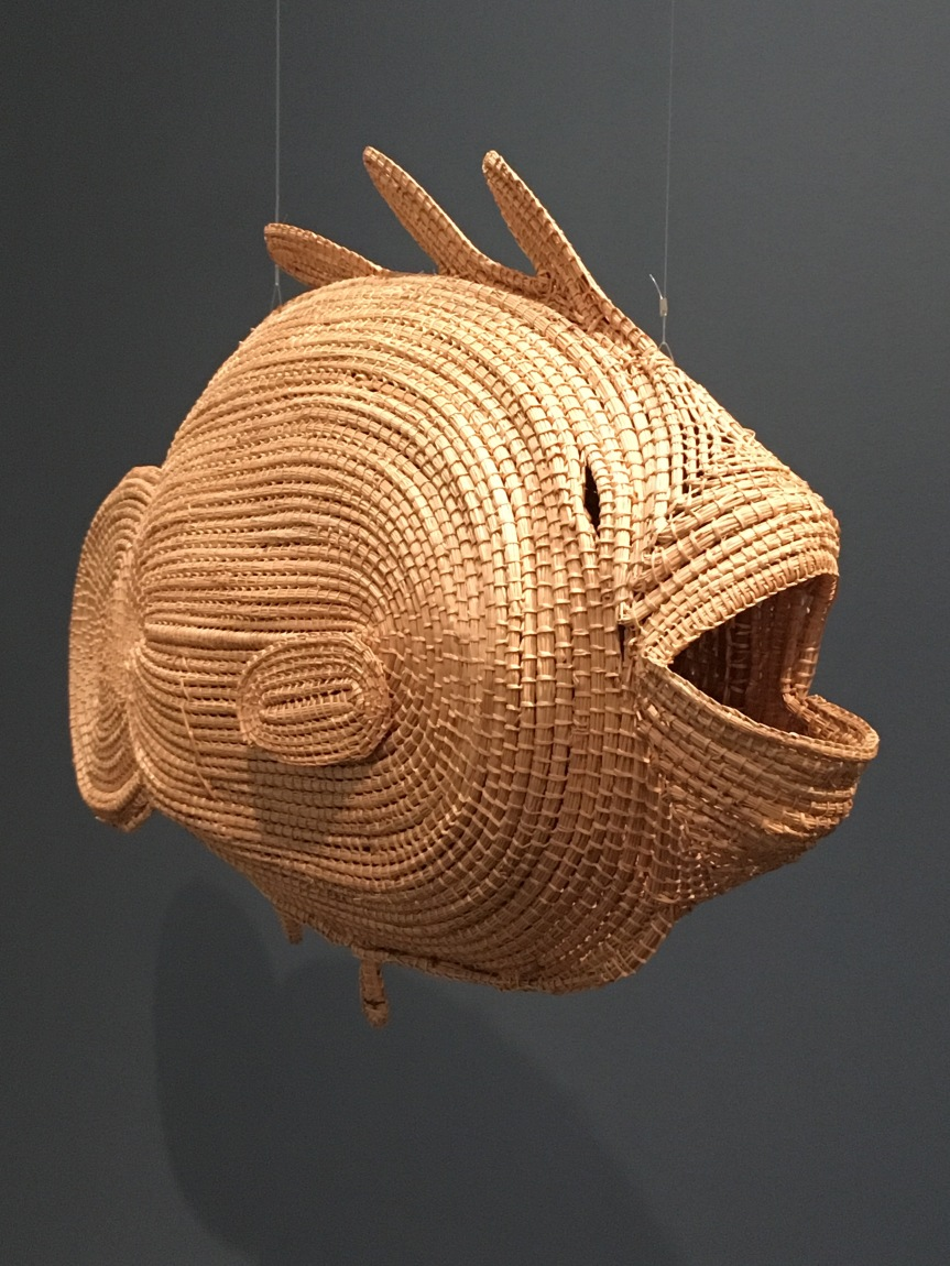 An Aboriginal wicker fish at the KMAC