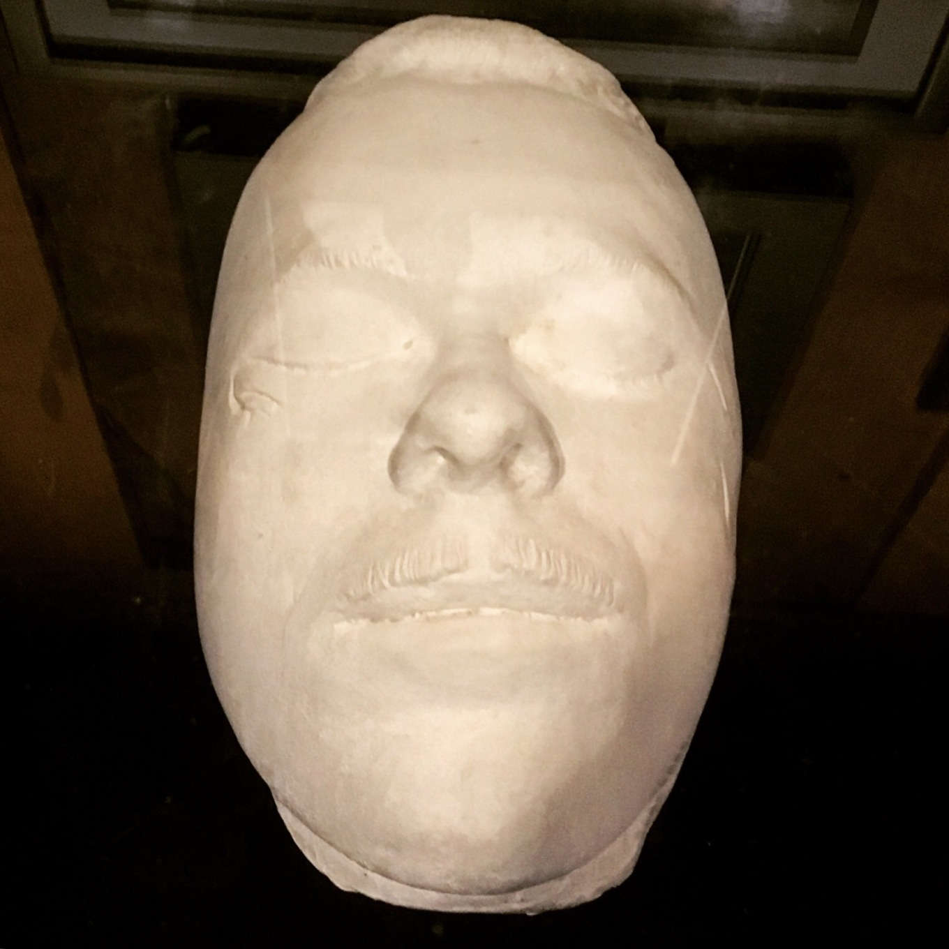 John Dillinger death mask at the Gangster Museum in Hot Springs Arkansas