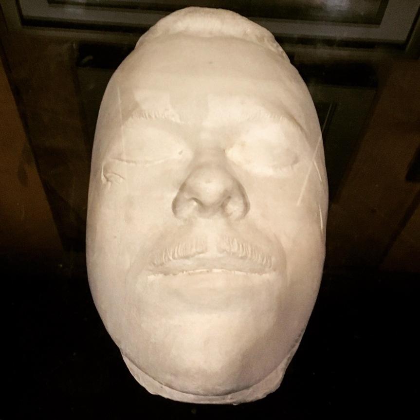 John Dillinger death mask at the Gangster Museum in Hot Springs Arkansas