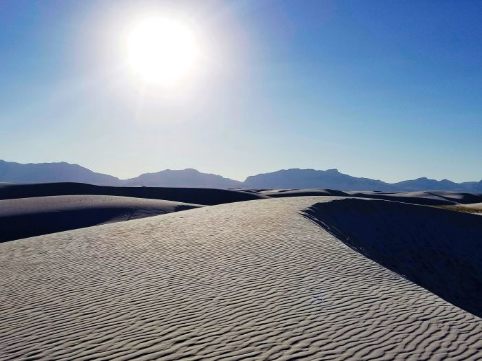 Sun Over White Sands National Monument, NM