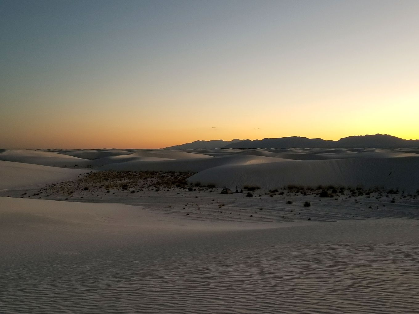 Rolling gypsum dunes, White Sands National Monument