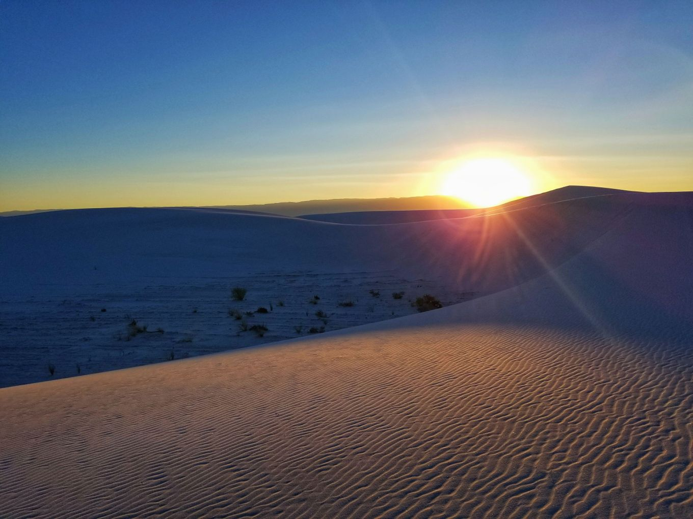 Sunrise at White Sands National Monument