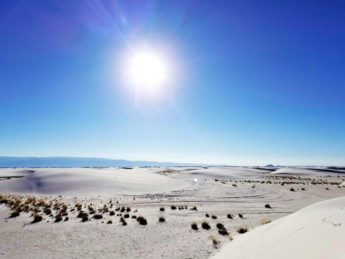 Midday Sun Over White Sands National Monument
