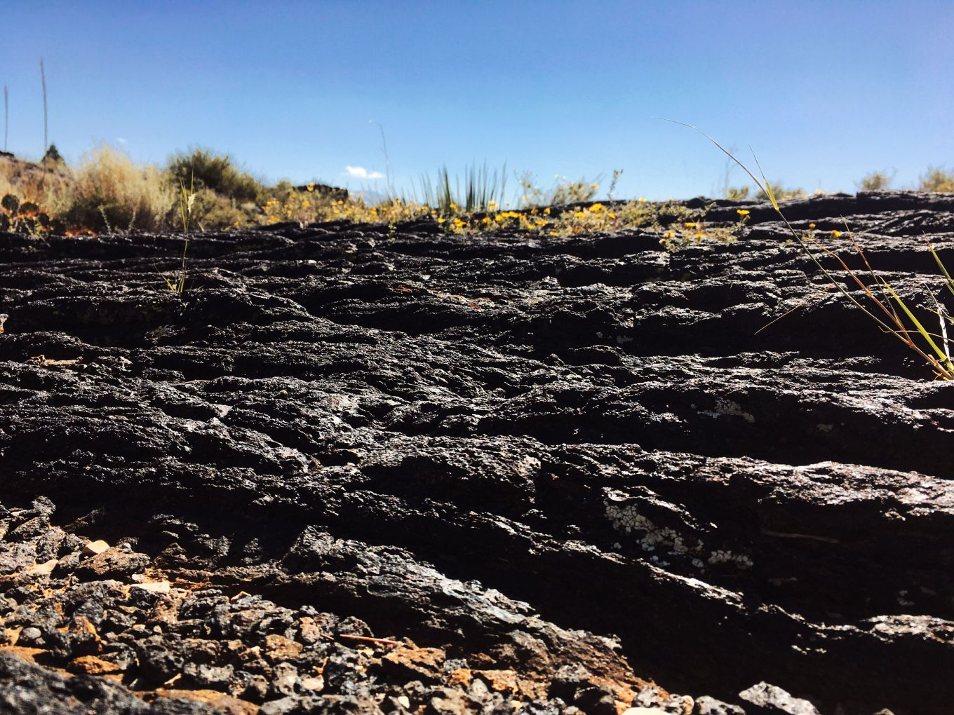 Lava layers at Valley of Fires, New Mexico