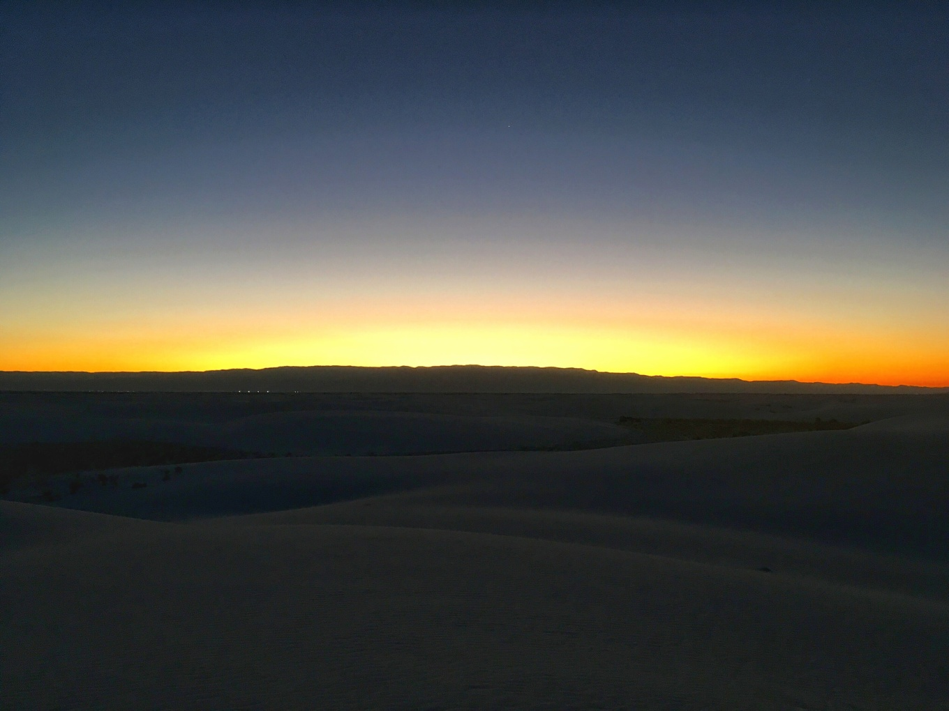 Daybreak at White Sands National Monument