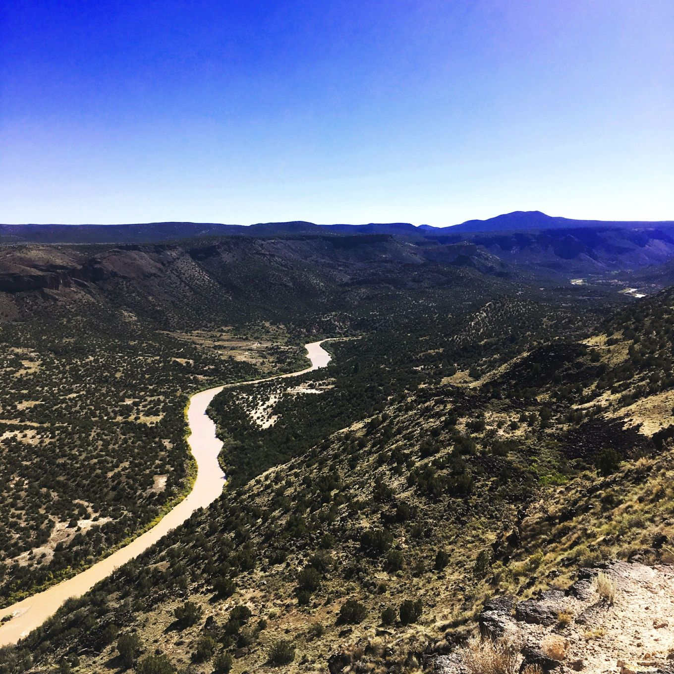 Rio Grande Gorge and River From White Rock Overlook, NM