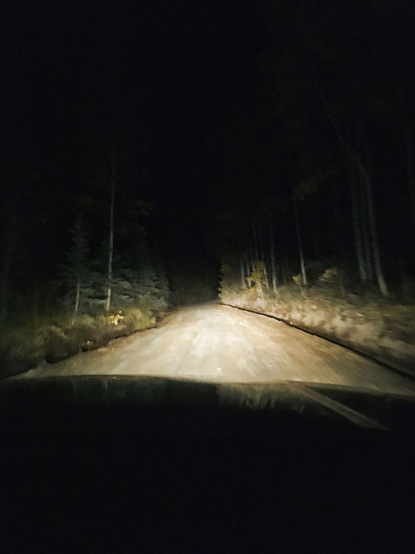 New Mexico's Route 126 At Night