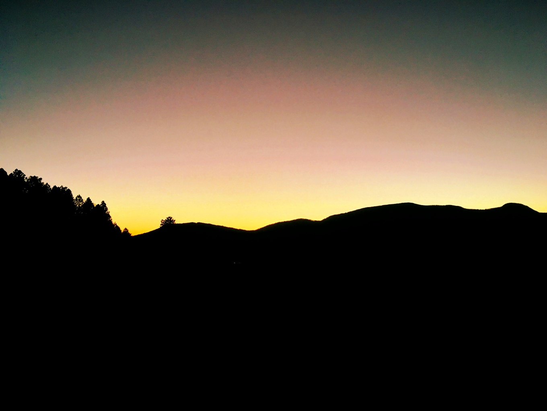 Sun Setting Behind The Jemez Mountains, NM