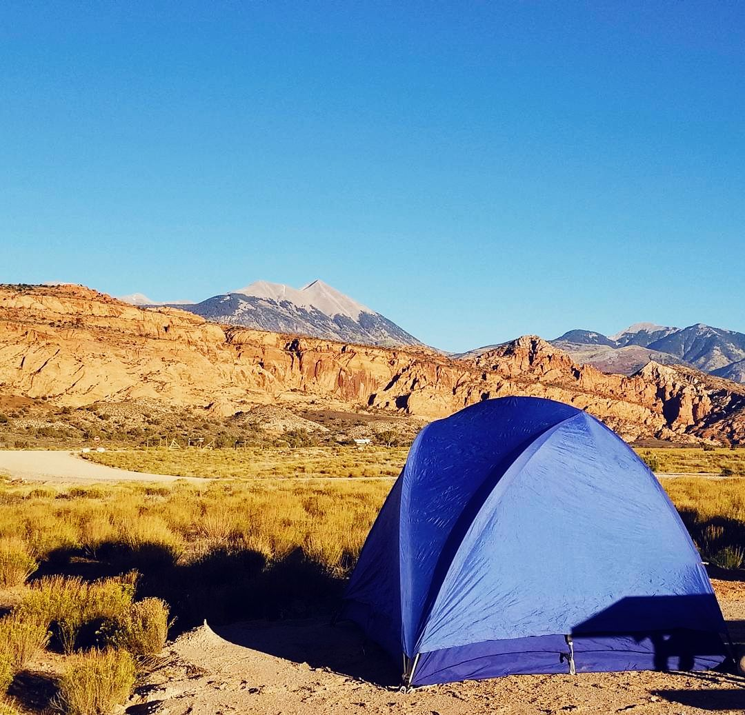 The campsite at Ken's Lake, UT.