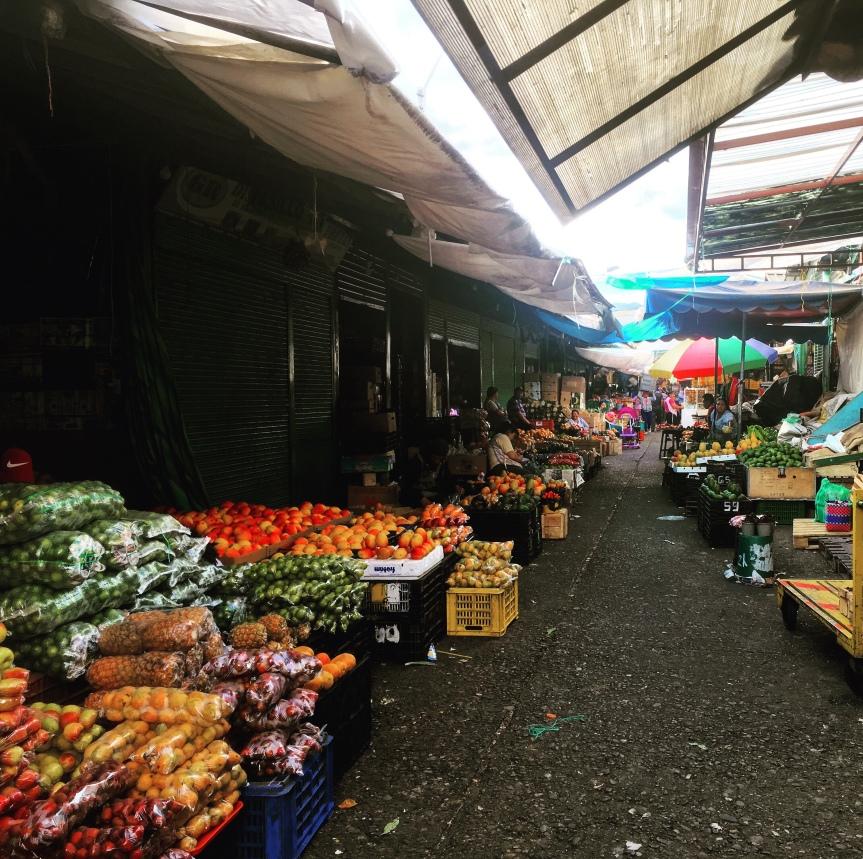 The market stalls in Feria Libre