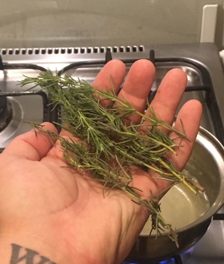 A small handful of Rosemary sprigs