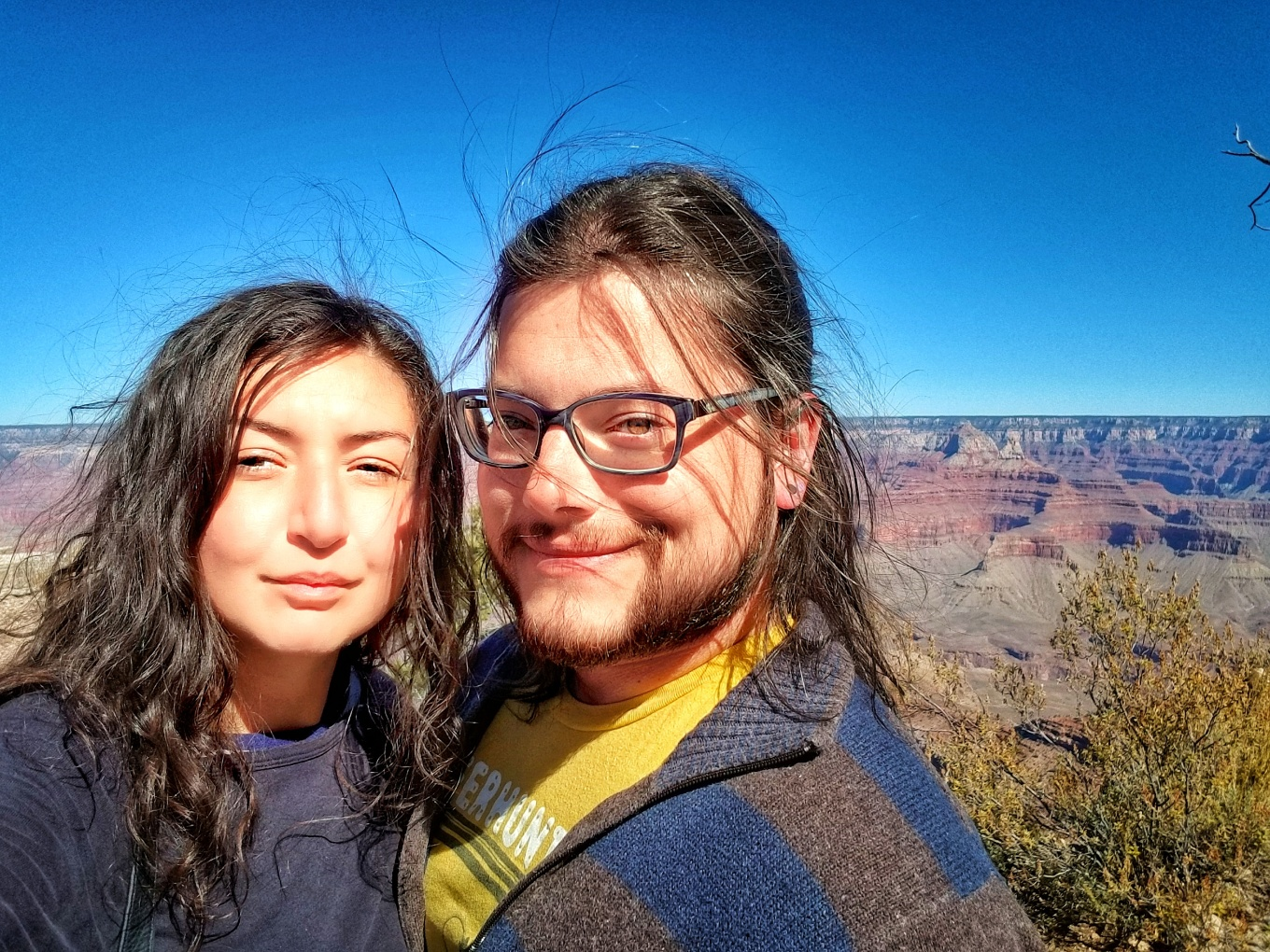 J and Y at Grand Canyon National Park, South Rim