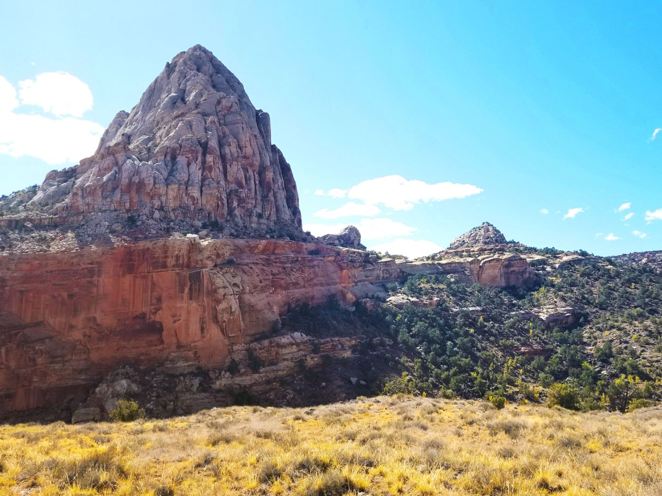 The view from the Hickman Bridge Trail, Capitol Reef National Park, Utah