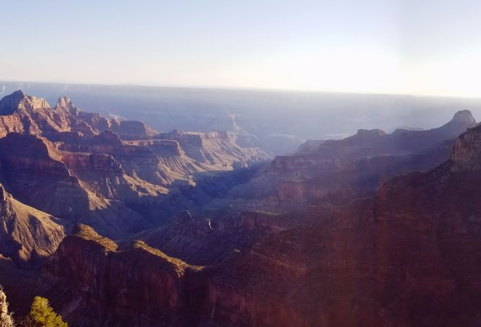 The view from Bright Angel Point, Grand Canyon National Park - North Rim, AZ