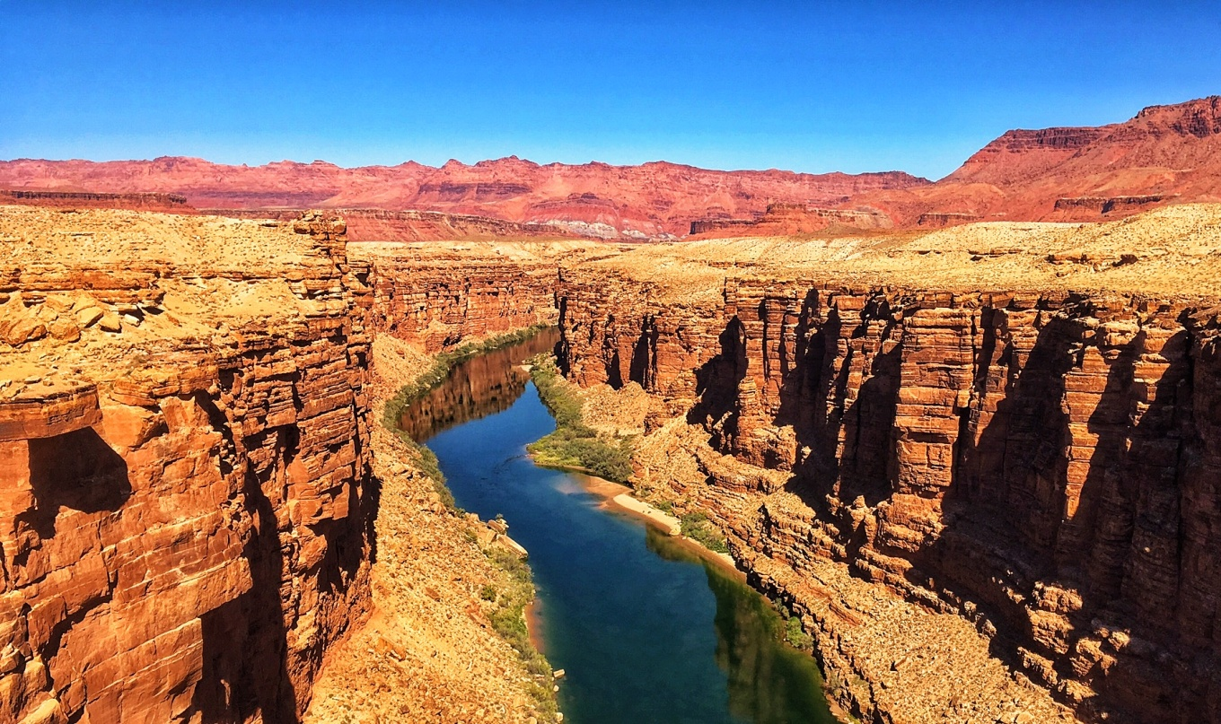 The Colorado River from atop the Navajo Bridge