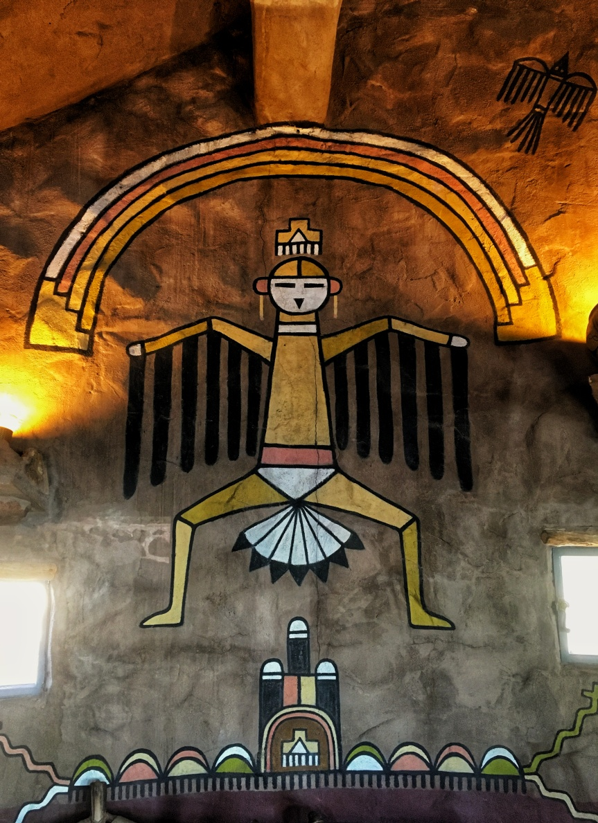 Petroglyphs inside the Desert View Watchtower