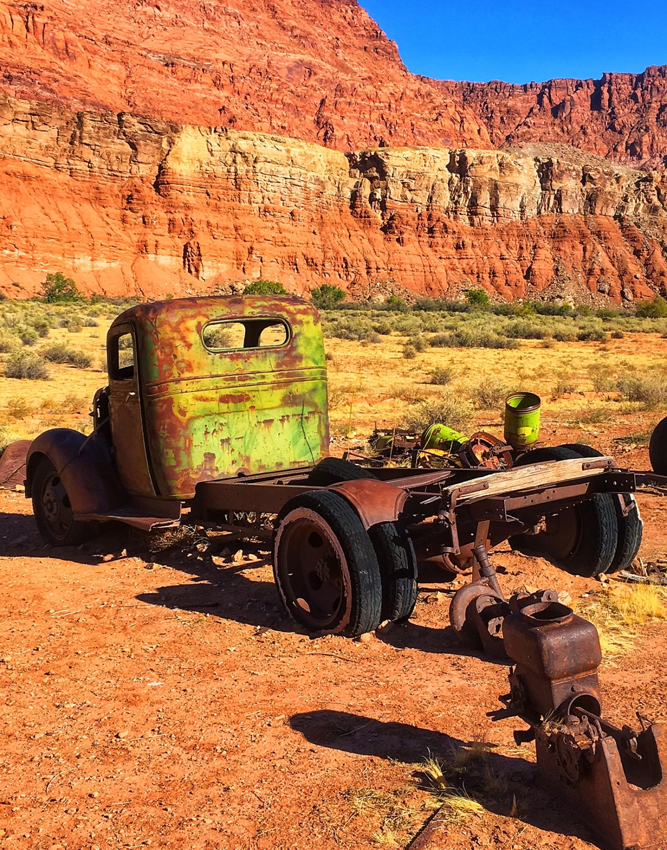 Rusted Vintage Truck at Lonely Dell Ranch