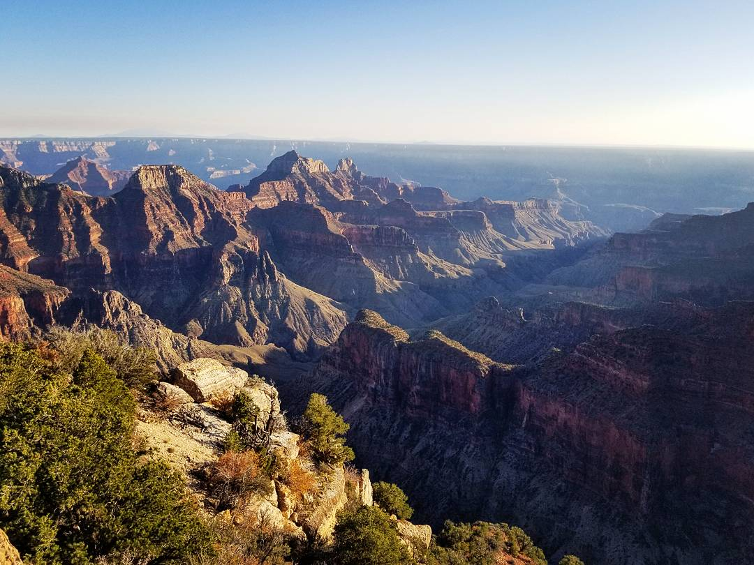The view from Bright Angel Point, Grand Canyon National Park, North Rim