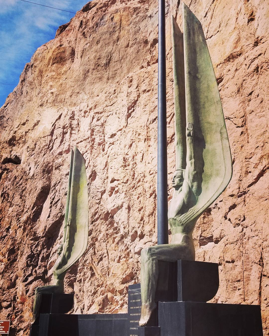 Bronze Angels at the Hoover Dam
