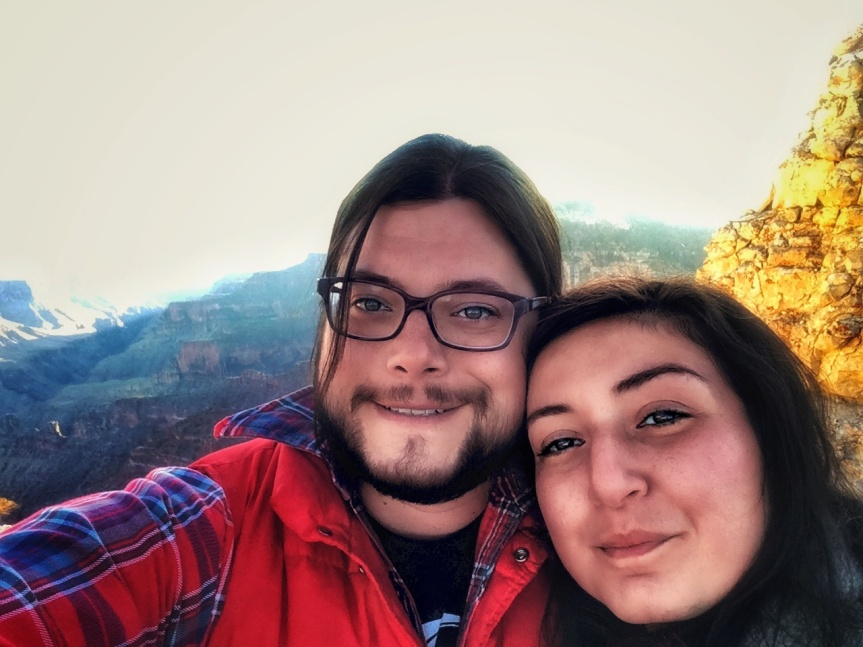 J and Y at Bright Angel Point, Grand Canyon National Park North Rim