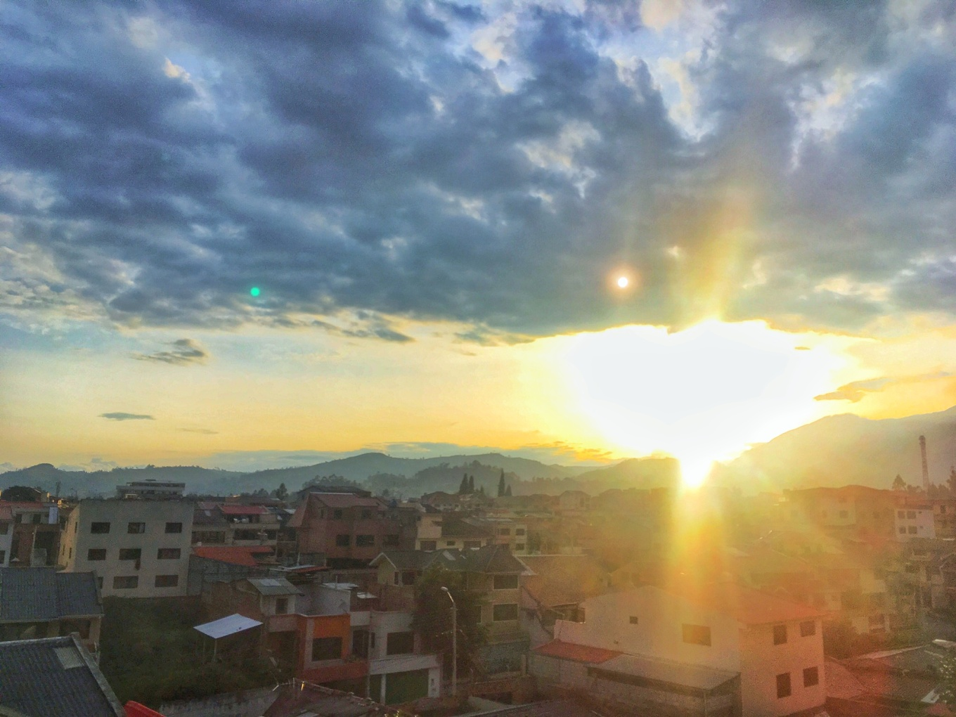 Rooftop Sunset In Cuenca, Ecuador