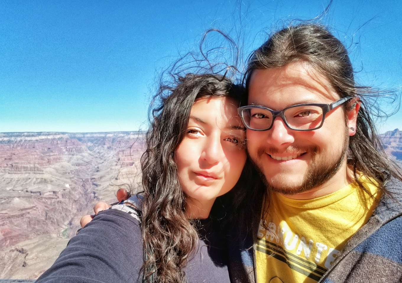 J and Y at Mather Point, Grand Canyon National Park, South Rim