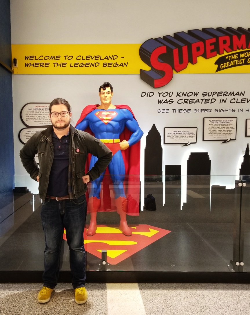 Superman In The Cleveland Airport