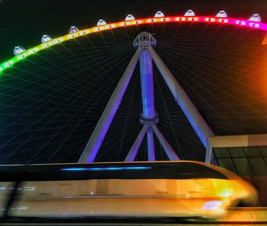 The High Roller Ferris Wheel in Las Vegas, NV