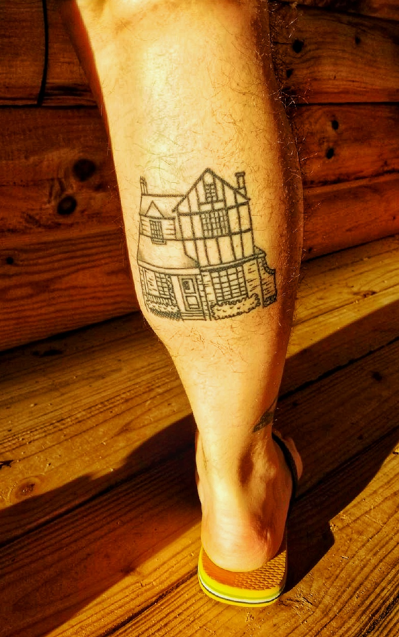 A tattoo of a house