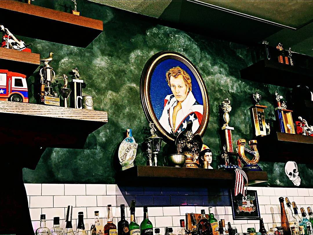 Evel Kneivel Portrait at Evel Pie, Las Vegas, NV