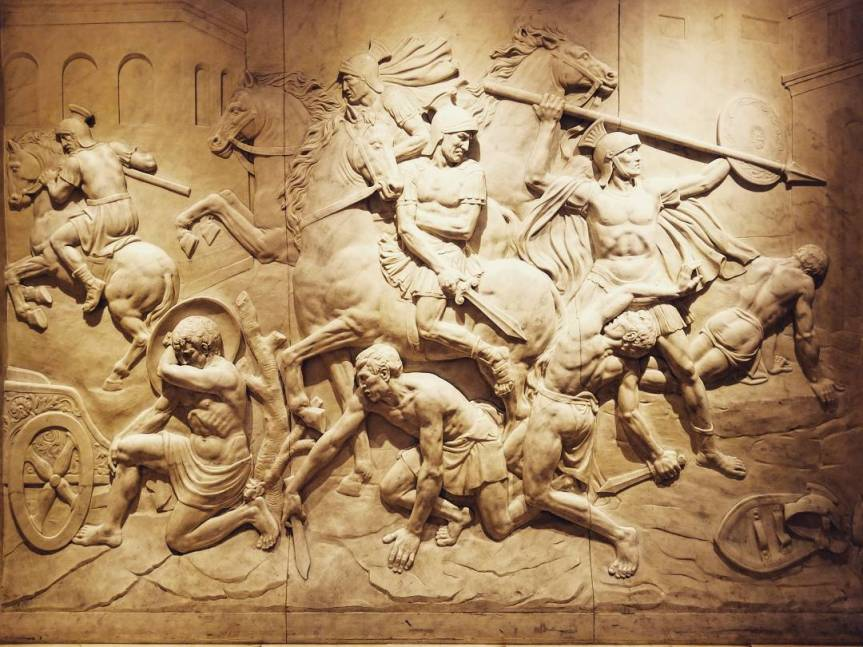 A marble frieze in Caesar's Palace