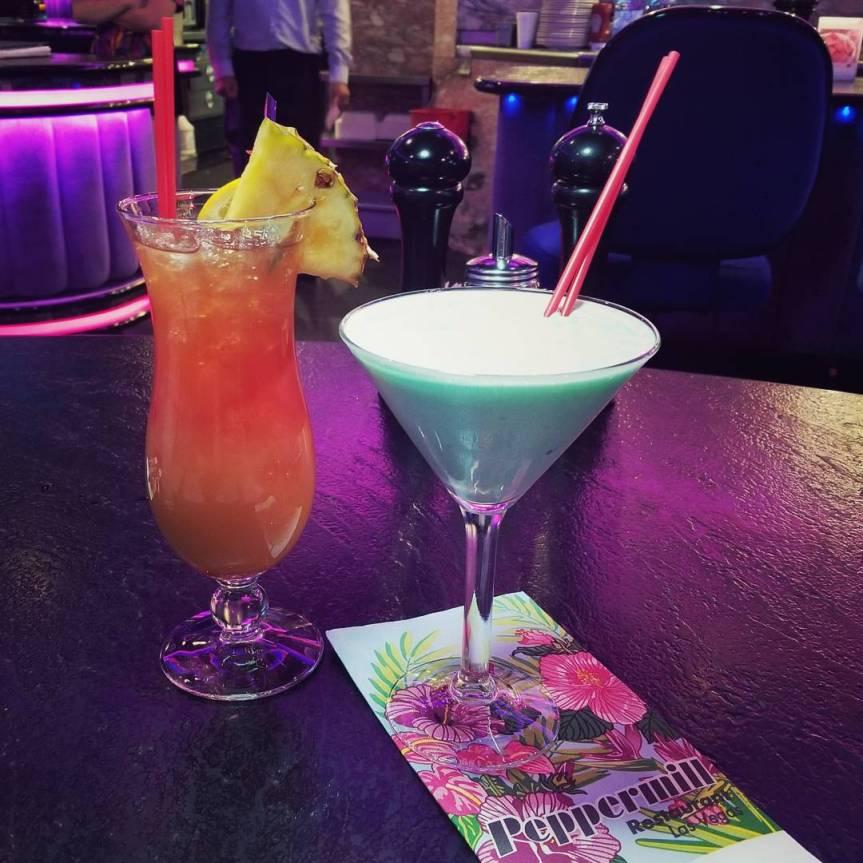 A Mai Tai and a Grasshopper Cocktail