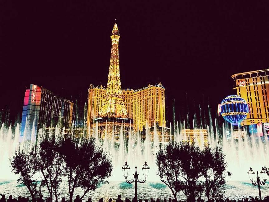 The fountain at the Bellagio Casino