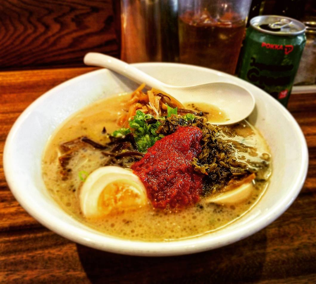 A delicious bowl of Tonkutsu Ramen in Las Vegas, Nevada