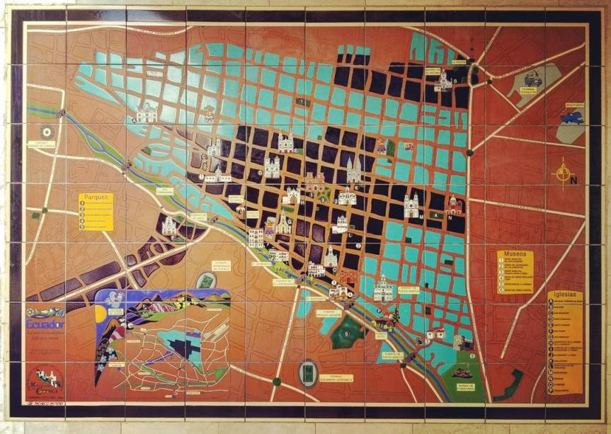 Mosaic Map of Cuenca's Centro Histórico