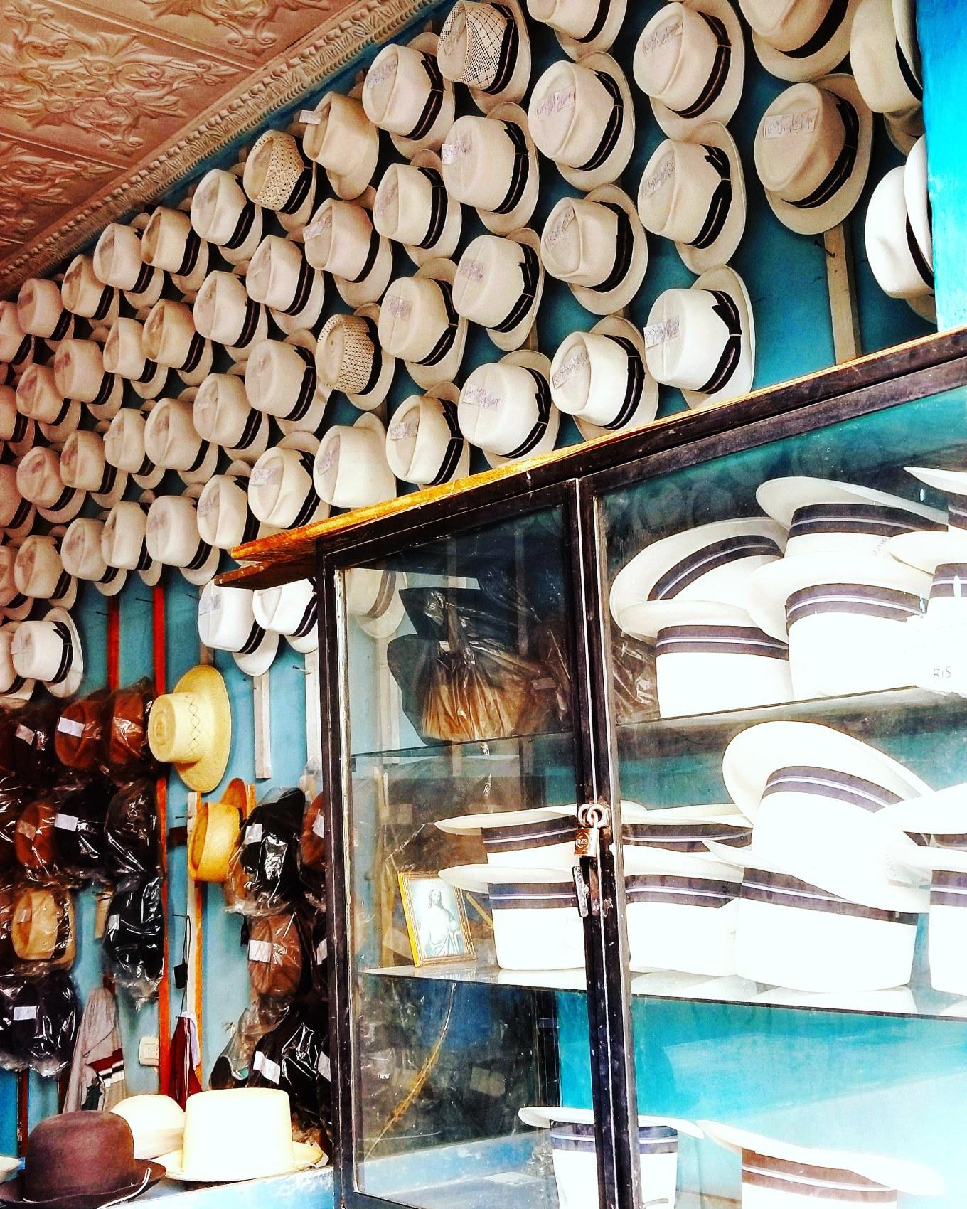 Panama (Toquilla) Hat Shop Cuenca, Ecuador
