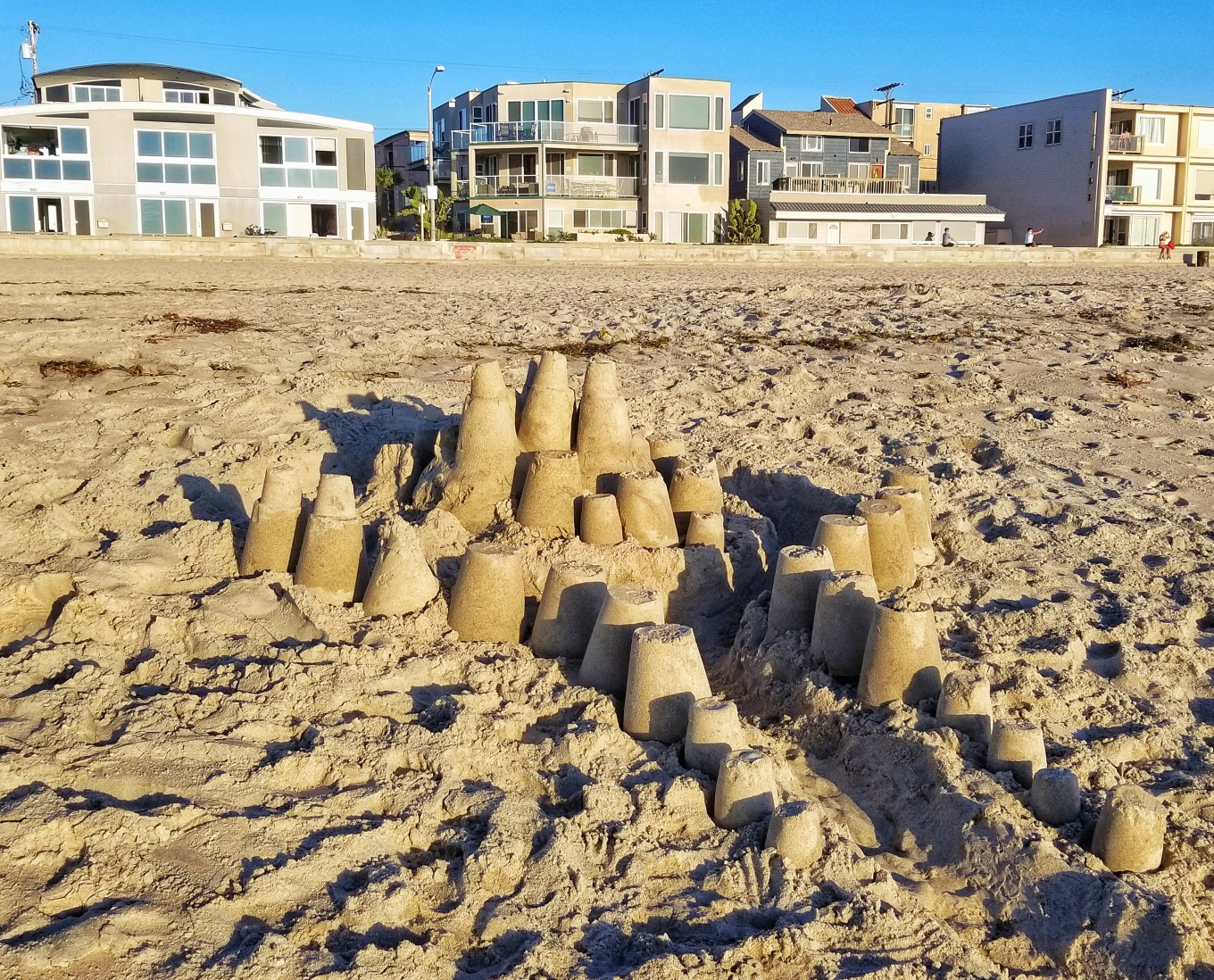 A shitty Sand Castle at Pacific Beach, San Diego, CA