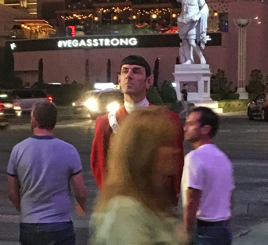 A Captain Spock street performer in Las Vegas, NV
