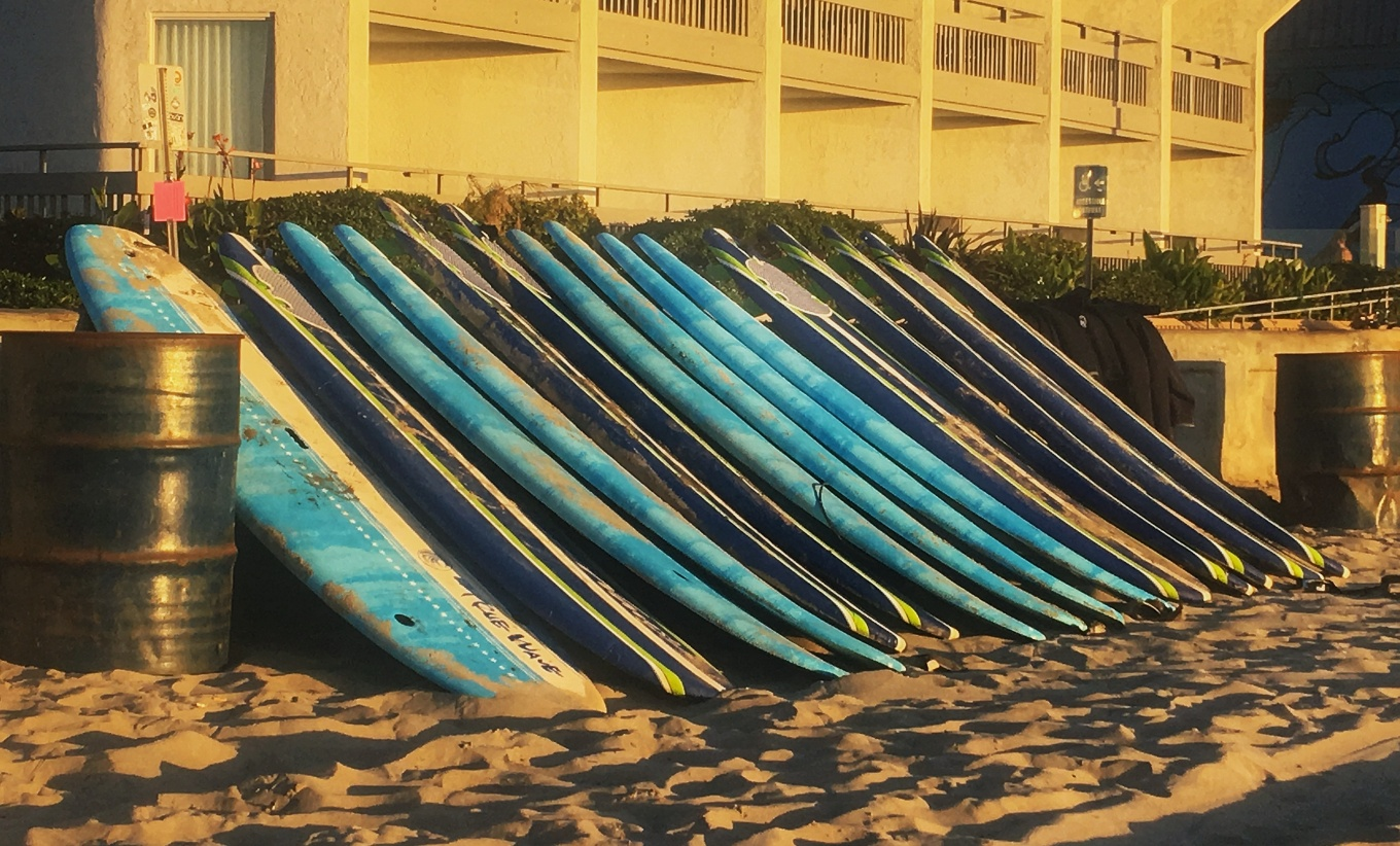Surf Boards, Mission Beach, San Diego, CA