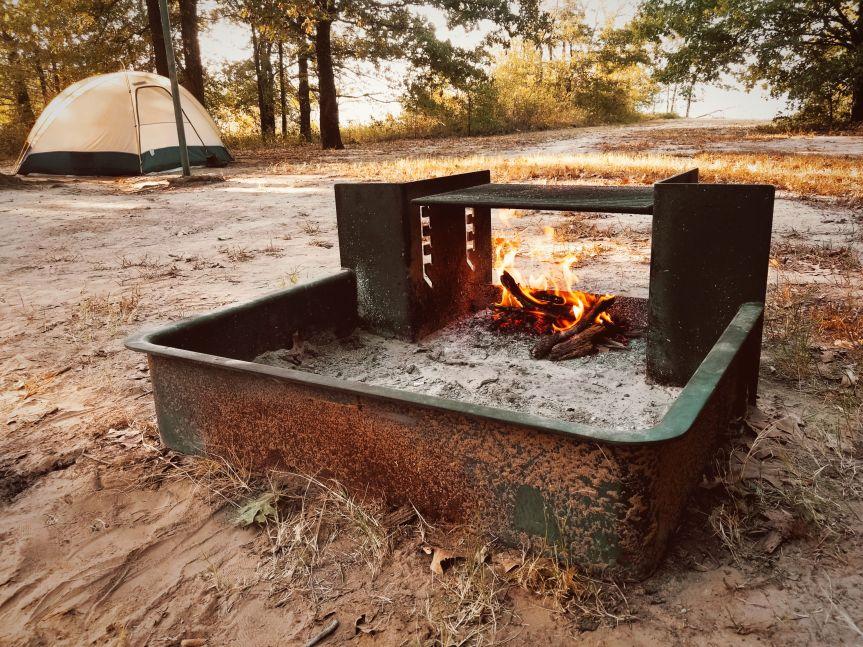 Camping at Cooper Lake State Park, TX