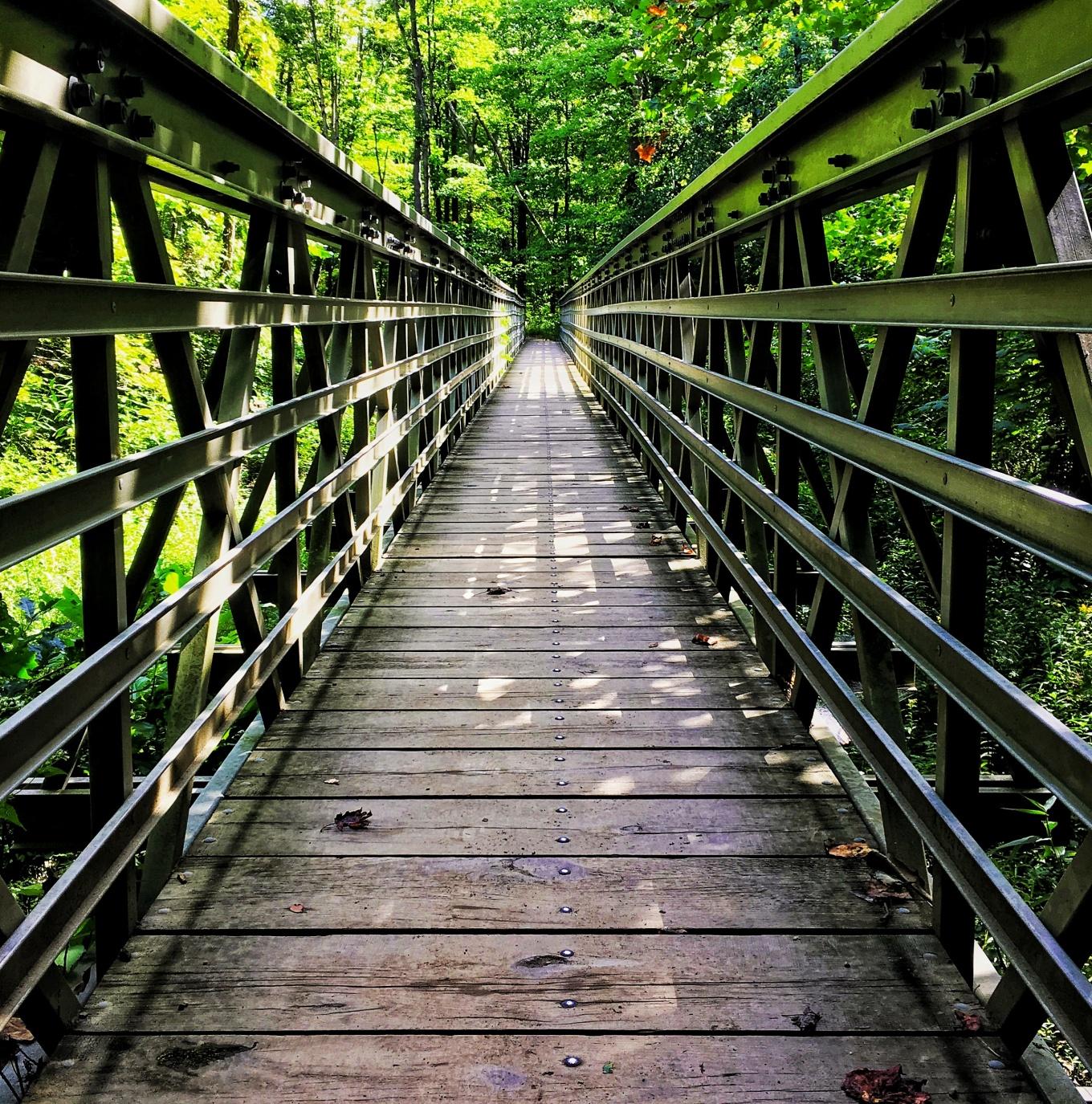 Footbridge in Cuyahoga Valley National Park, Ohio