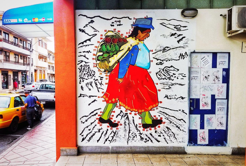 Indigenous Woman Mural Cuenca, Ecuador