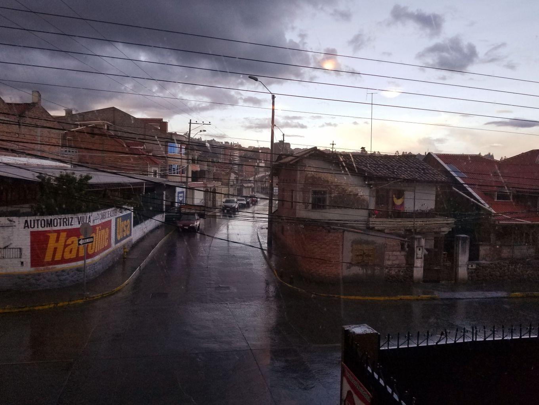 A rainy day view of El Batán, Cuenca, Ecuador