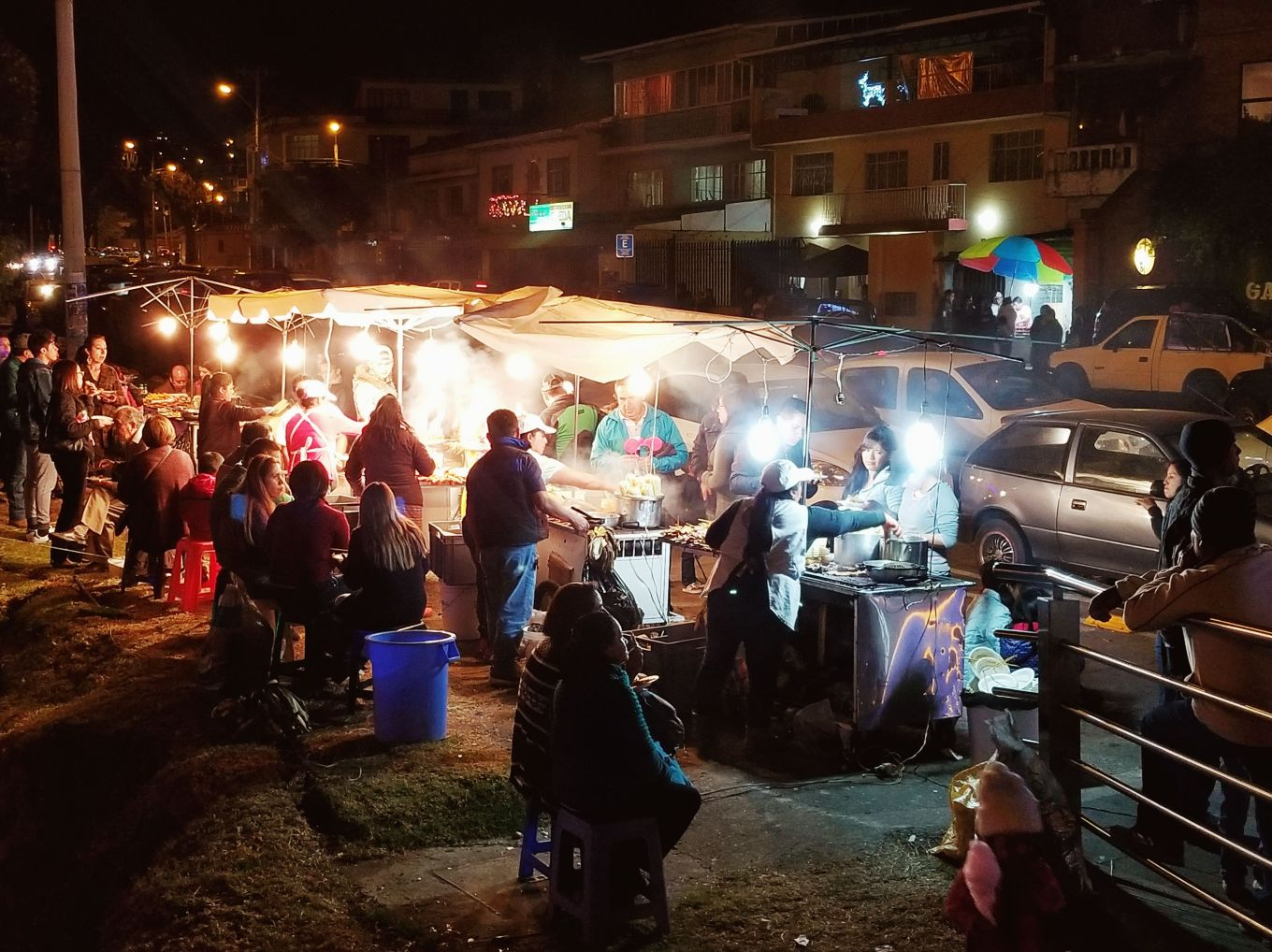 Food Stalls in Cuenca, Ecuador