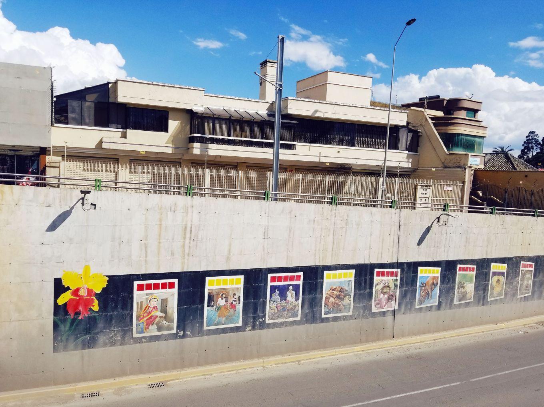 Roadside Mural Cuenca, Ecuador